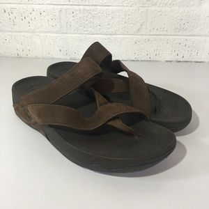 Fitflop brown suede sandals